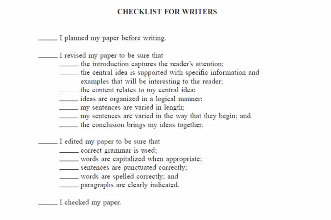 writerschecklist
